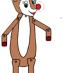 Renna Rudolph marionetta da costruire