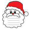 Biglietto di Babbo Natale da costruire