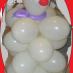 Pupazzo di neve con palloncini