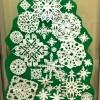 Natale: decorazioni con fiocchi neve
