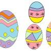 Uova di Pasqua di carta