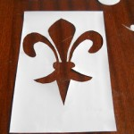 stencil giglio di Firenze
