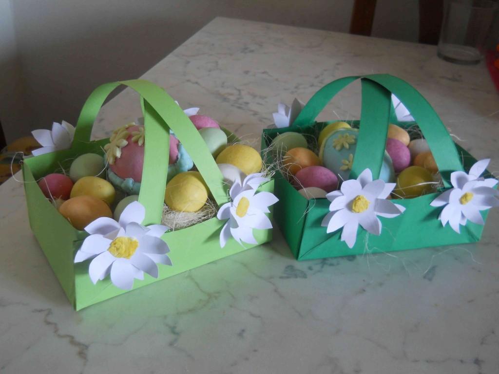 cestini di Pasqua con ovett