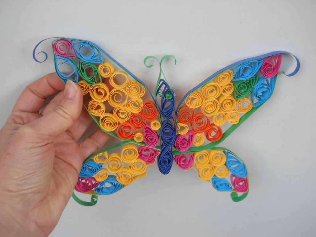 farfalla con tecnica Quilling