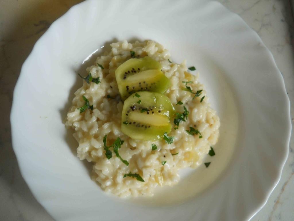 risotto al kiwi e mascarpone