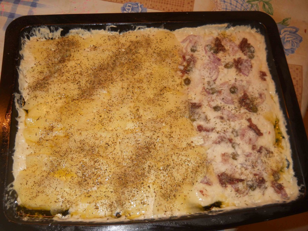 schiacciata alla patate e alle cipolle