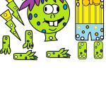 Immagine mostro verde
