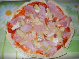 pizza con pane carasau