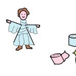 abito in carta igienica