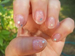 nail art trasparente