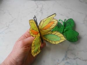 farfalla in carta crespa