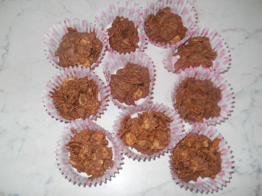 biscotti corn flacks e cioccolato