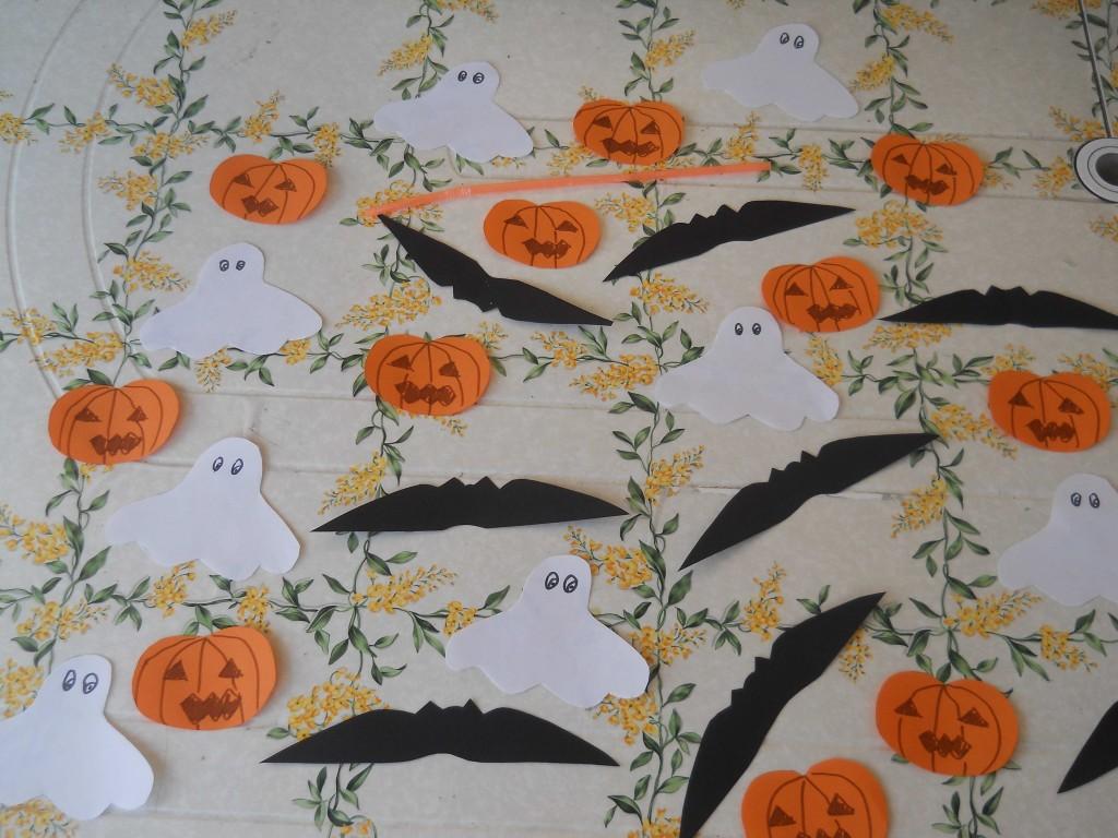 gioco halloween, pesca la figura con cannuccia