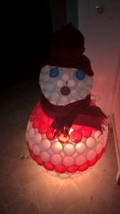 pupazzo di neve illuminato
