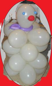 pupazzo di neve palloncini