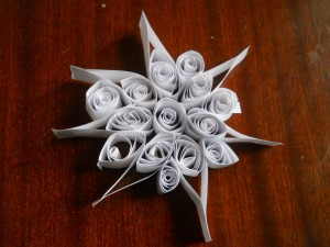 fiocco neve quilling