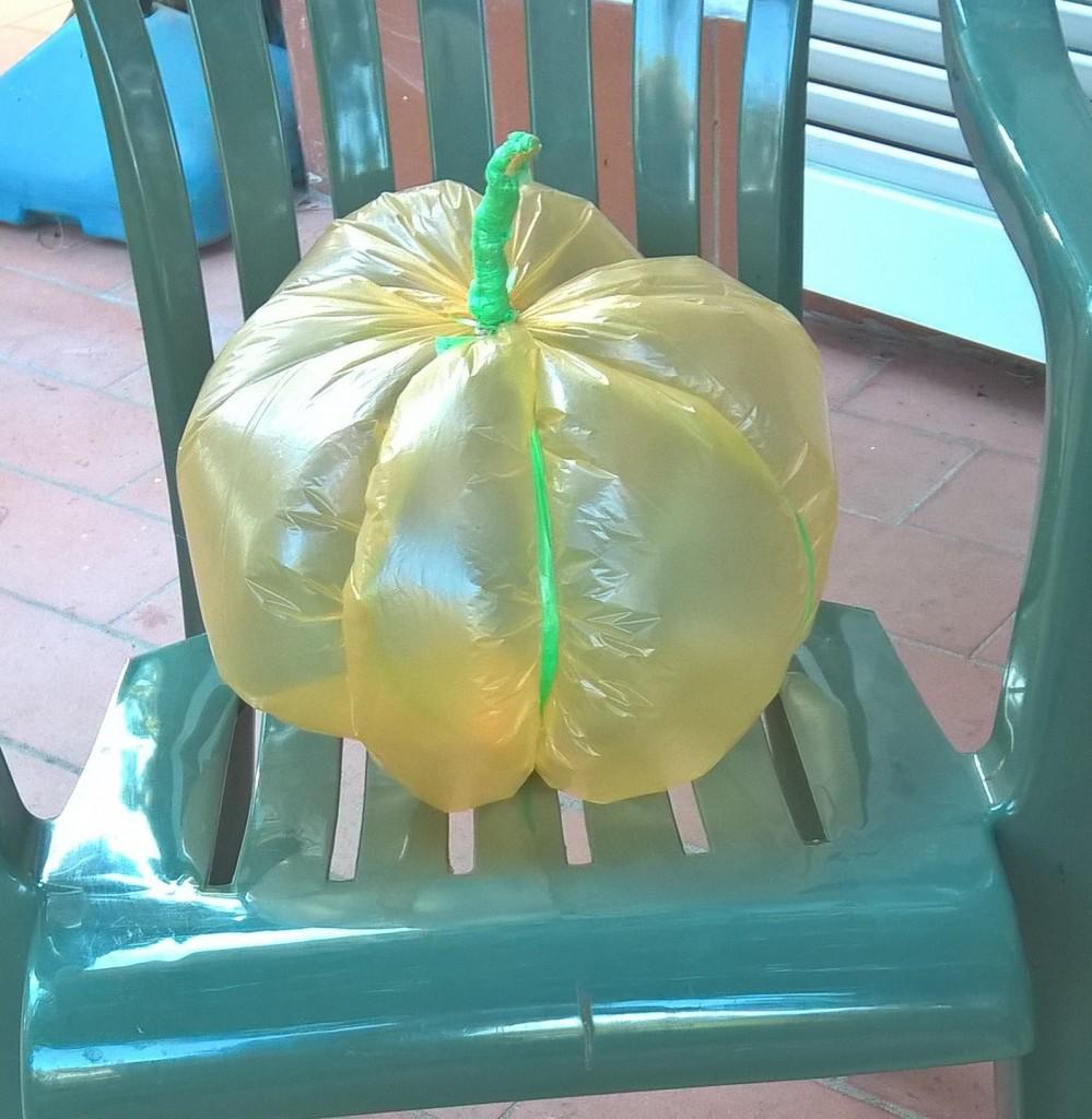 zucca di plastica Halloween