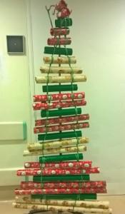 albero di Natale con rotoloni