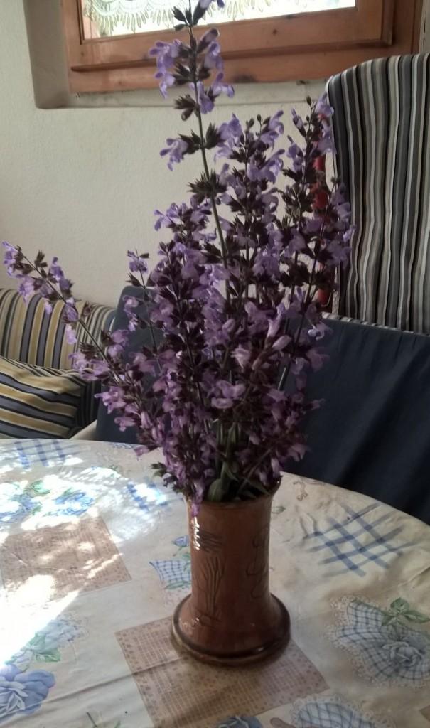 centrotavola fiori salvia