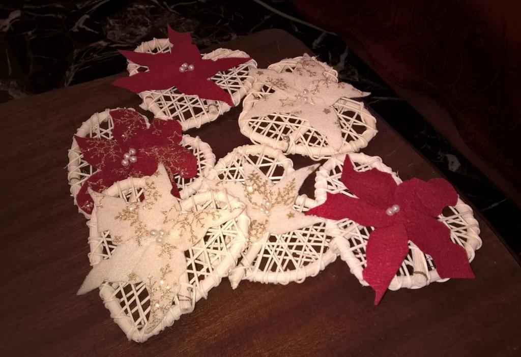 cuori con stelle di Natale