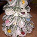 albero natale con cotone