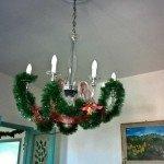 decorazione natale lampadario