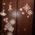decorazione porta natale