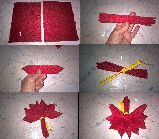 Stella Di Carta Natale.Stella Di Natale In Carta Bricolage Ricette