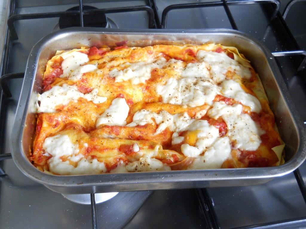 lasagne pomodoro mozzarella