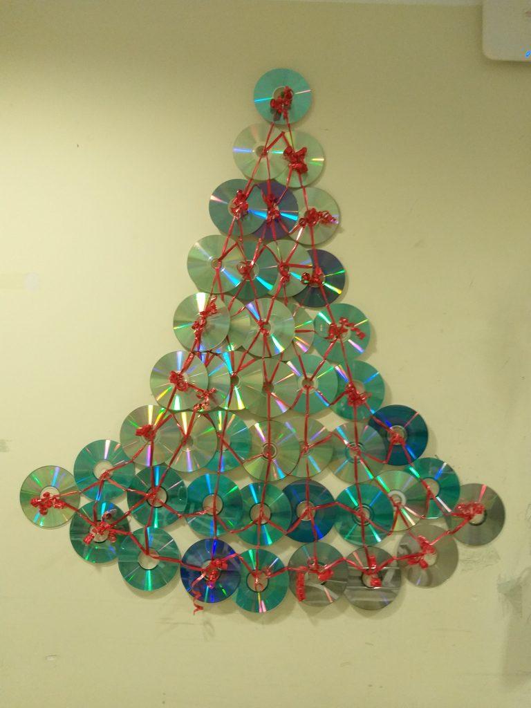 albero di Natale con CD