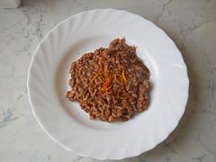 risotto al cacao e arancia