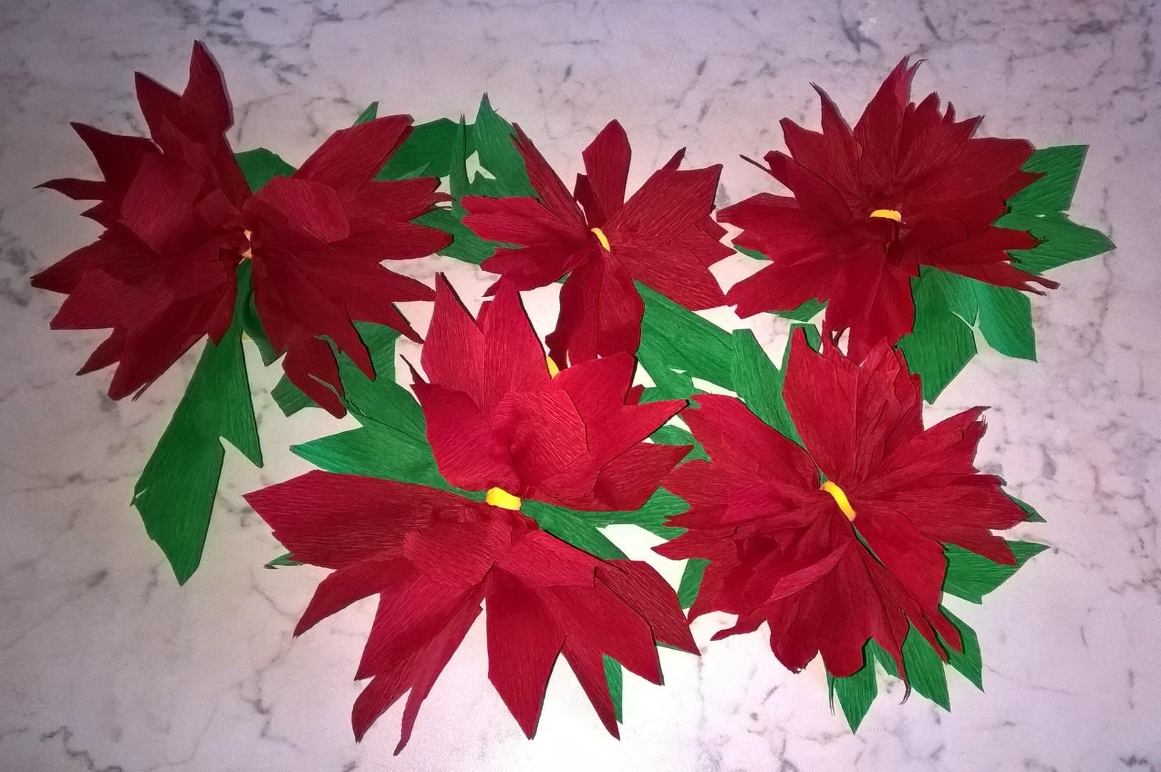 Stelle Di Natale Da Costruire stella di natale in carta   bricolage & ricette